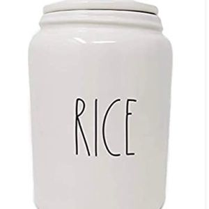 Rae Dunn RICE Ceramic Large Canister Limited Ed